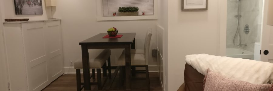 Laundry & Dining Area